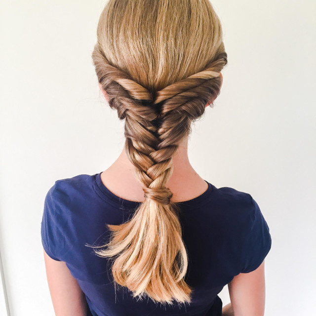 """""""Girl with braid"""" stock image"""