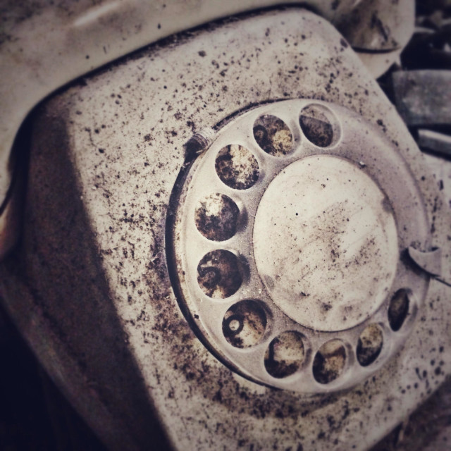 """Old phone"" stock image"