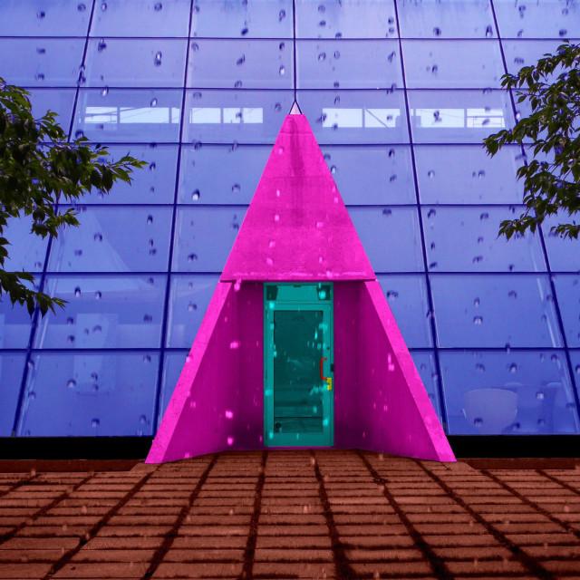 """Purple portico pyramid"" stock image"