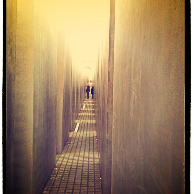 """Jewish memorial Berlin"" stock image"