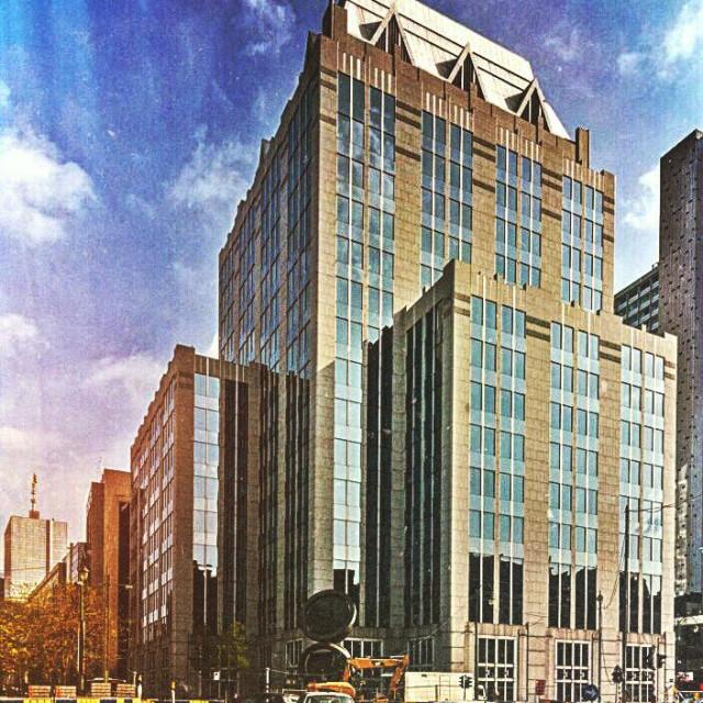 """EUROCLEAR headquarters, Brussels, Belgium, Europe"" stock image"