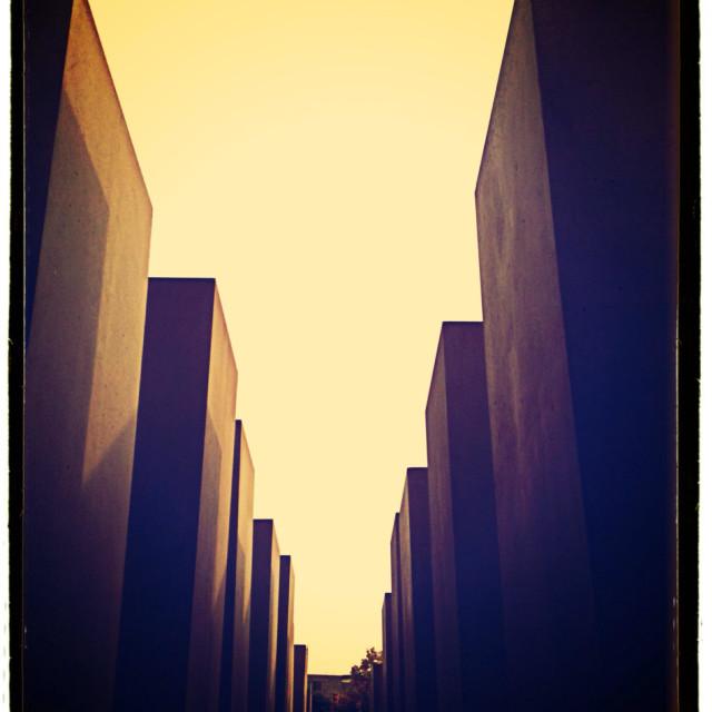 """""""Jewish memorial in Berlin"""" stock image"""