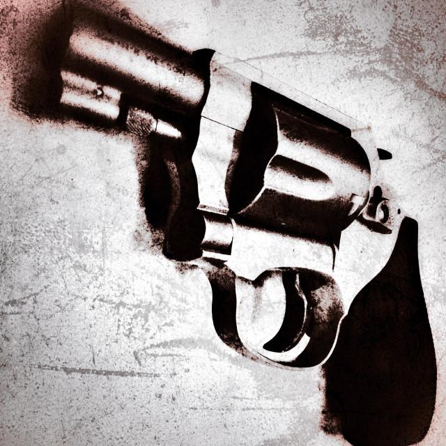 """Stainless 38 pistol"" stock image"