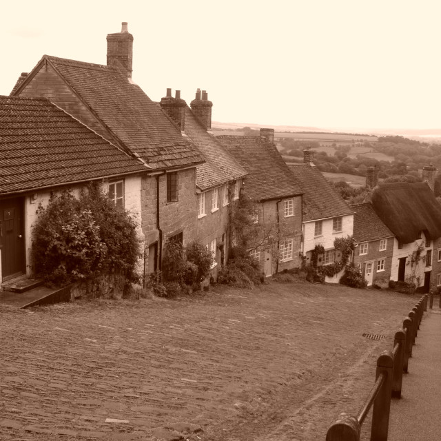 """Gold Hill, Shaftesbury, UK 1"" stock image"
