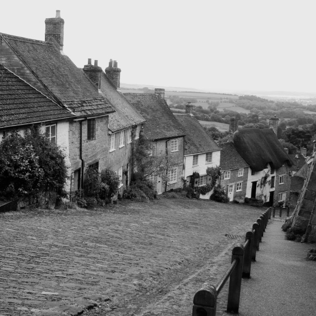 """Gold Hill, Shaftesbury 2"" stock image"