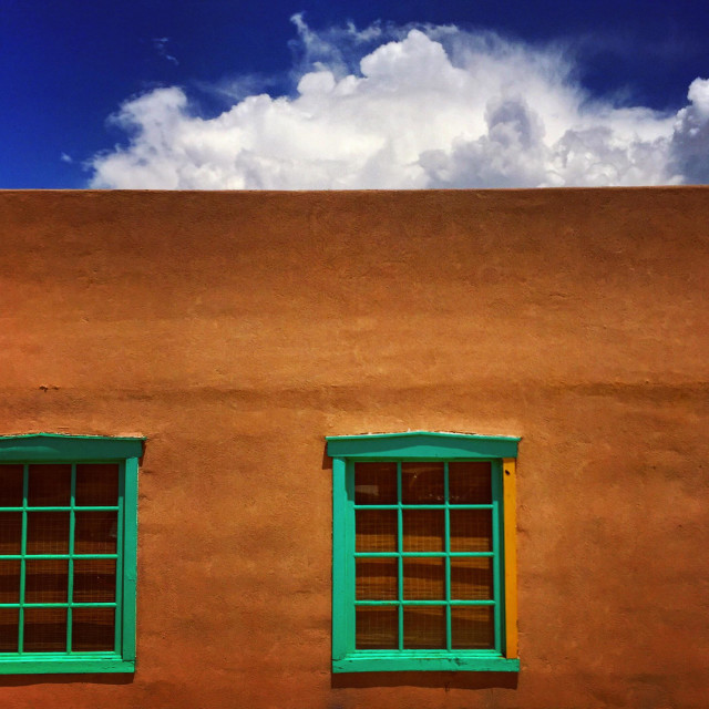 """""""Old Mesilla, New Mexico. Where the earth and clouds and sky collide."""" stock image"""