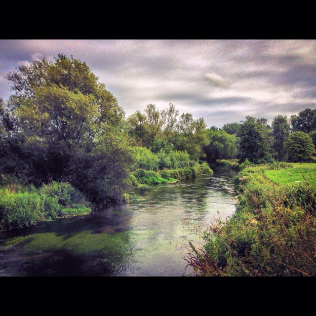 """River Itchen, Winchester"" stock image"