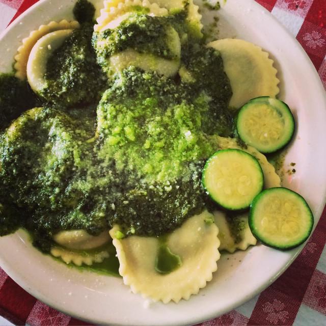 """Pesto ravioli"" stock image"