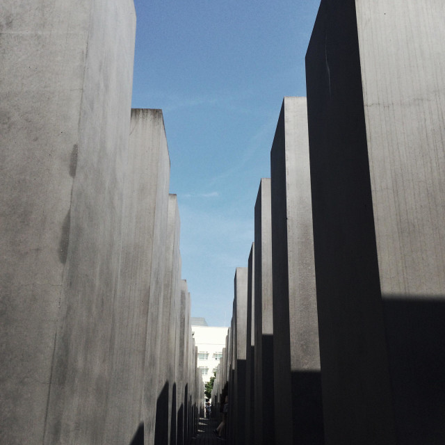 """Jewish Memorial, Berlin"" stock image"