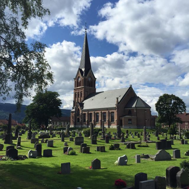 """""""Lillehammer Kirke"""" stock image"""