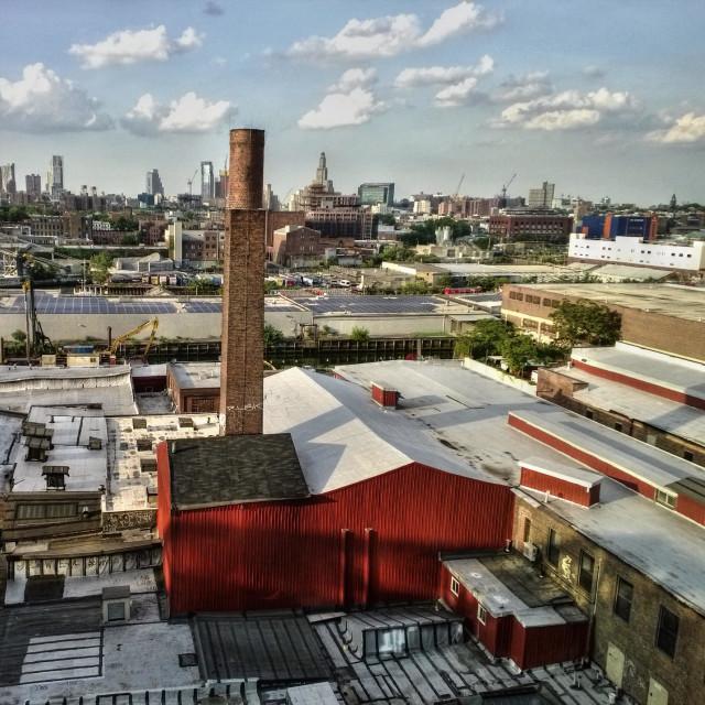 """Gowanus neighborhood in Brooklyn New York"" stock image"