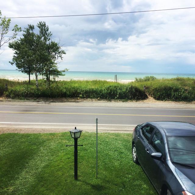 """Lake Huron - Sauble Beach"" stock image"