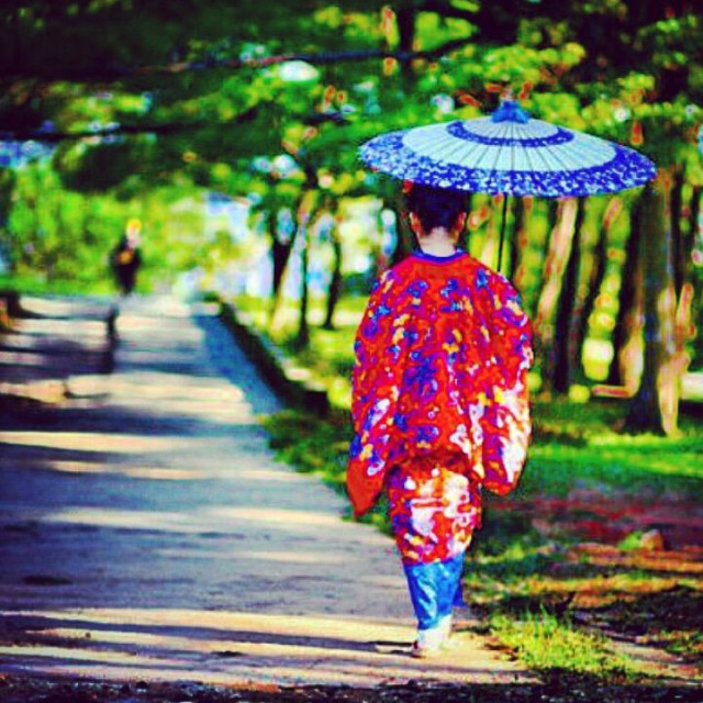 """Okinawa, Japan Geisha"" stock image"