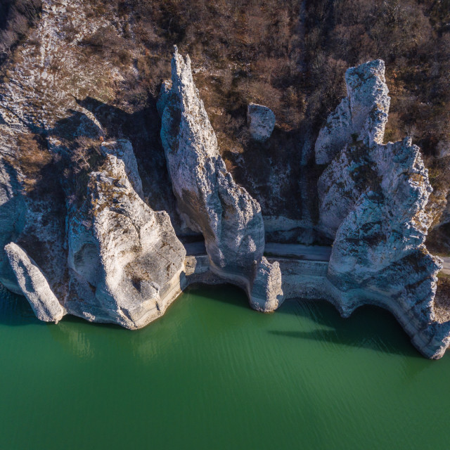 """Aeriall view of Rock Phenomenon The Wonderful Rocks in Bulgaria."" stock image"