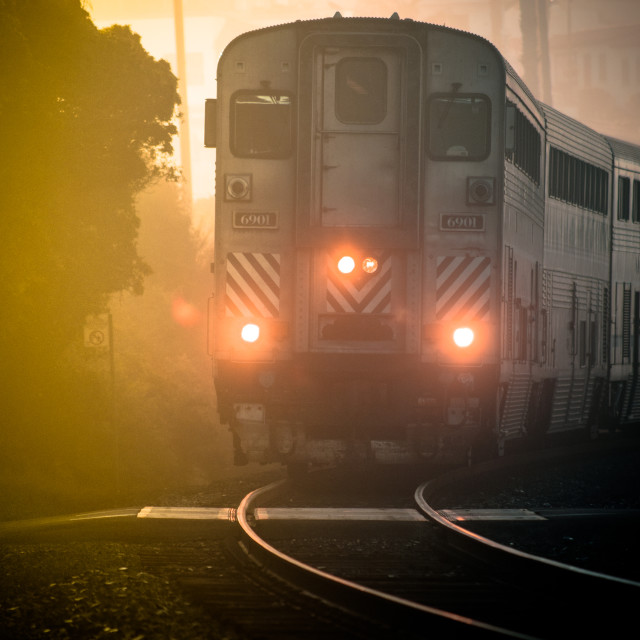 """Amtrak - Surfliner"" stock image"