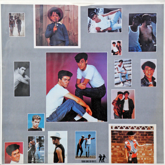 """Wham!LP 'Fantastic',inner sleeve A,George Michael 1983."" stock image"