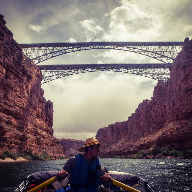 """Rafting the Grand Canyon"" stock image"