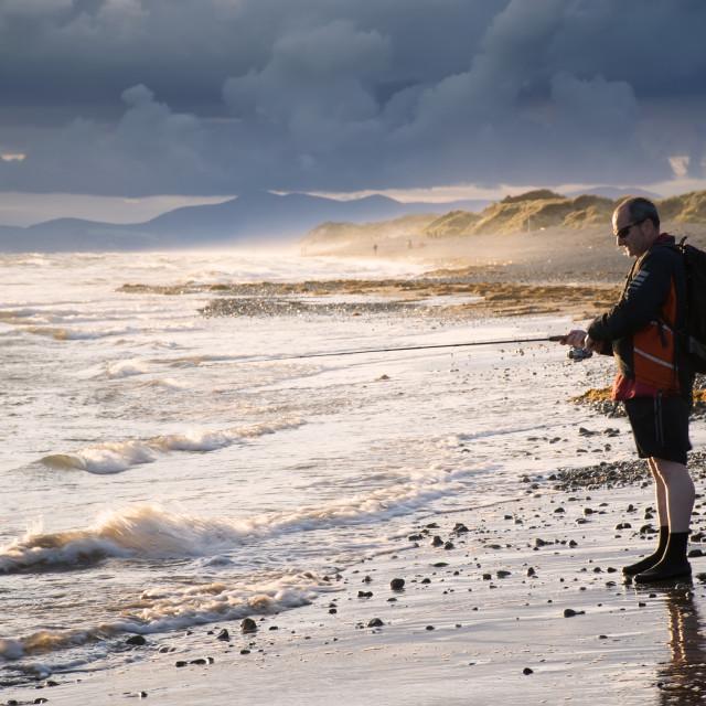 """""""Stormbeach Fishing"""" stock image"""