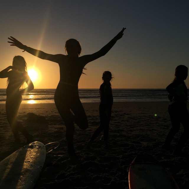 """""""Sunset dancing in the West Coast"""" stock image"""