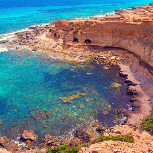 """Wild nature of Formentera island"" stock image"