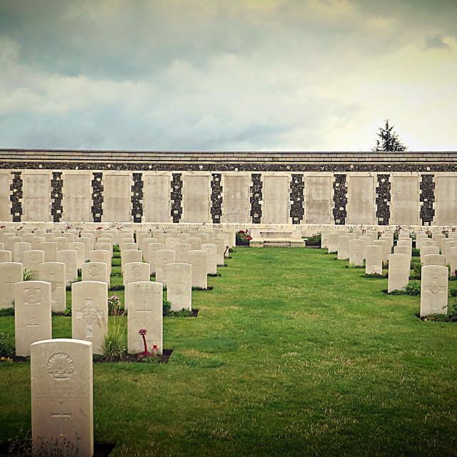 """""""Tyne Cot cemetery Ypres Belgium"""" stock image"""