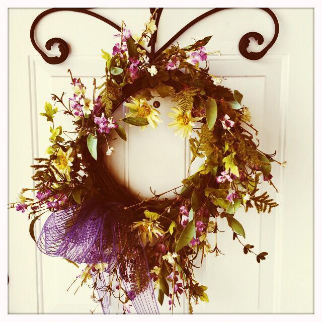 """""""Wreath on door"""" stock image"""