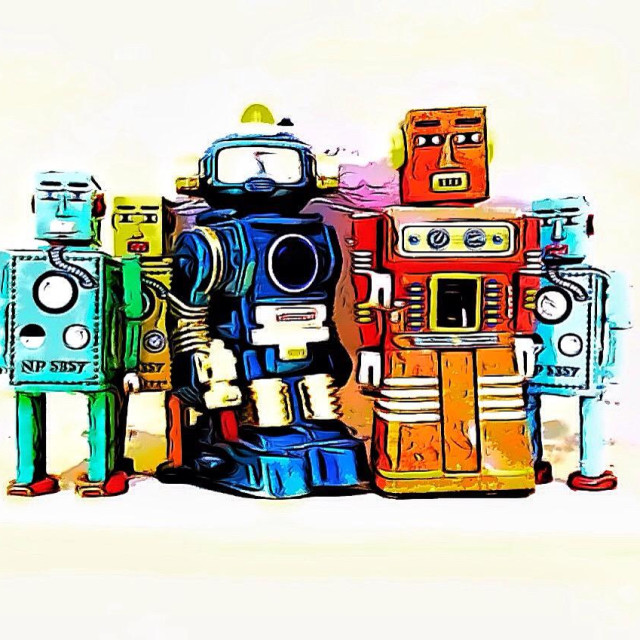 """Toy robots"" stock image"