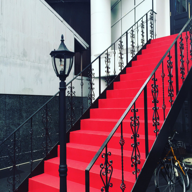 """""""Red staircase"""" stock image"""