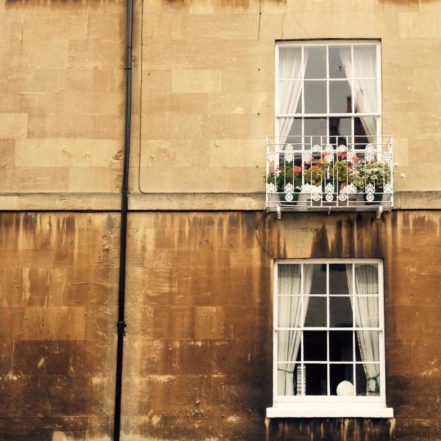"""House exterior windows"" stock image"