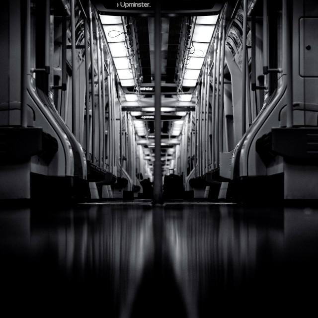 """The Night Train"" stock image"