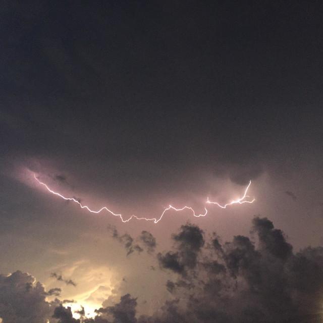 """Southern Wisconsin stormy sky"" stock image"