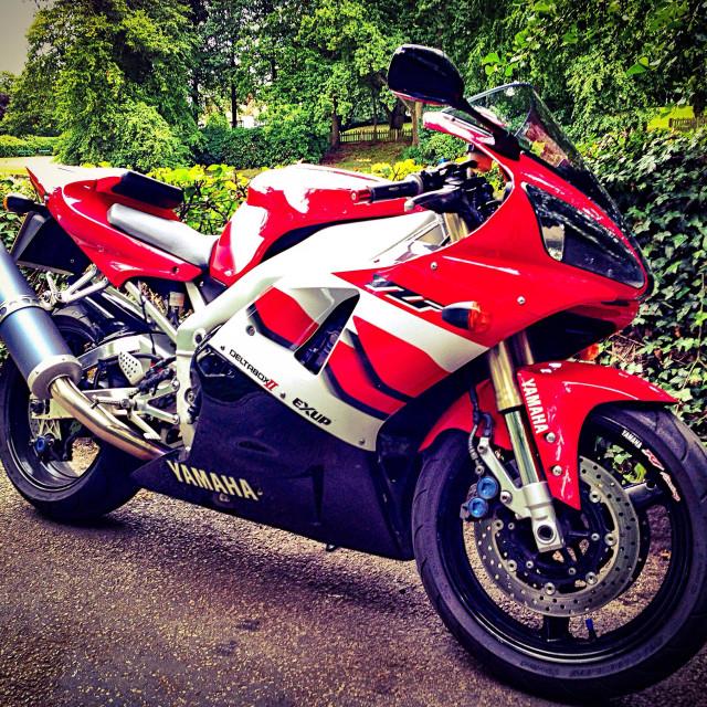 """""""Yamaha R1 Motorbike"""" stock image"""
