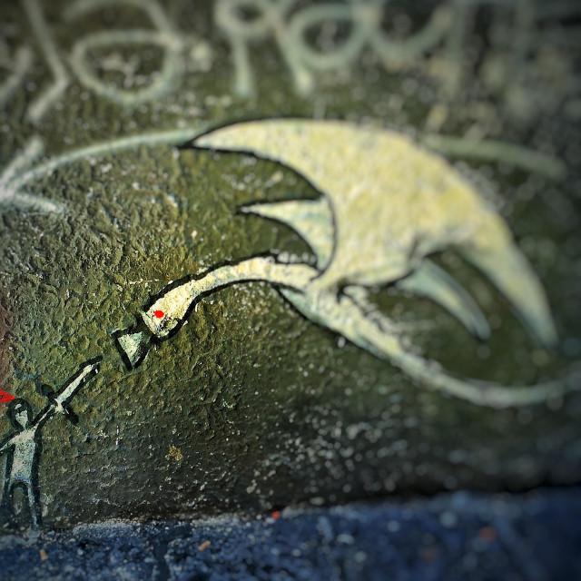 """""""Graffiti monster"""" stock image"""
