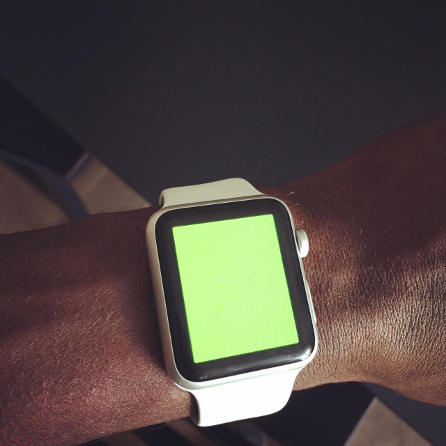 """""""Apple watch with a green screen"""" stock image"""