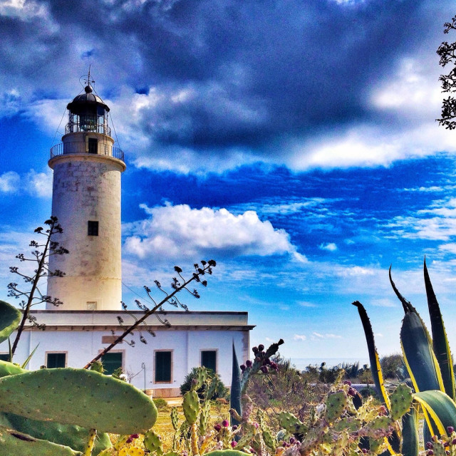"""Lighthouse Formentera"" stock image"