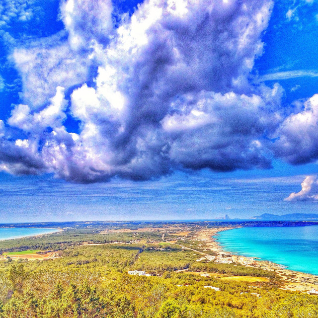 """Cloudy Formentera"" stock image"