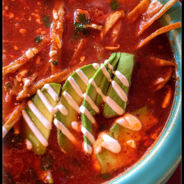 """Chicken tortilla soup"" stock image"