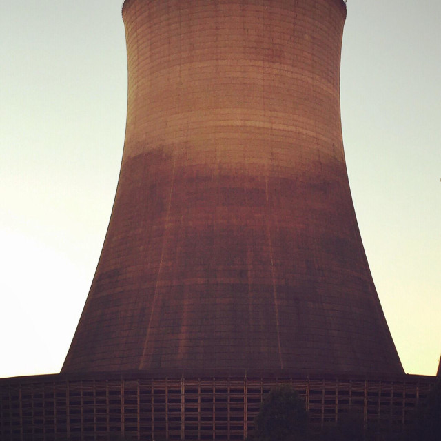 """""""Nuclear reactor cooling tower"""" stock image"""