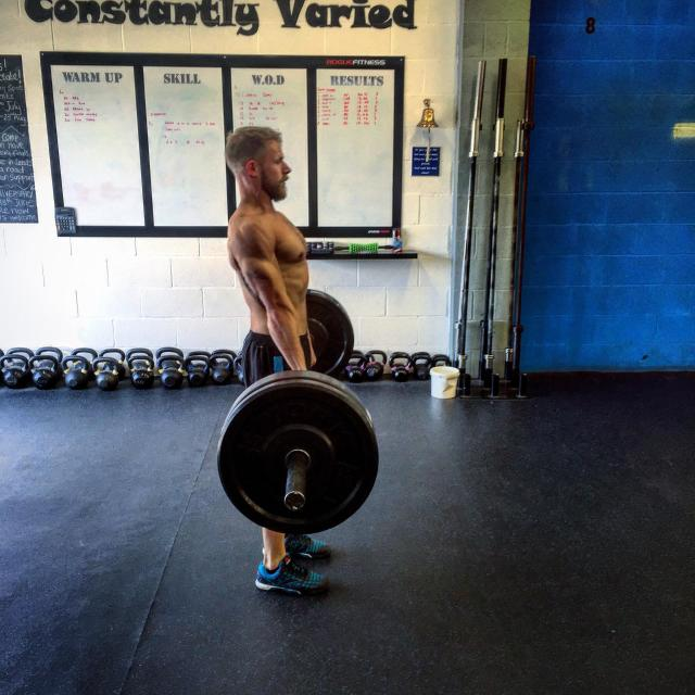 """""""Male performs deadlift"""" stock image"""