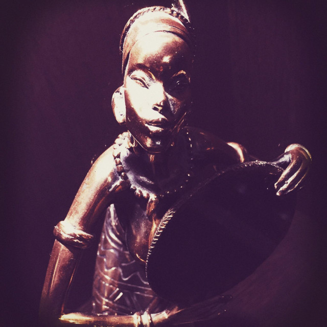 """""""Statuette of African woman"""" stock image"""