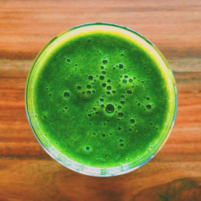 """""""Healthy green smoothie"""" stock image"""