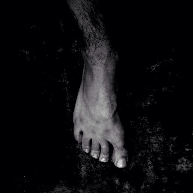 """Man's foot."" stock image"