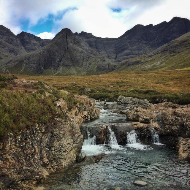 """Fairy pools, Isle of Skye, Scotland"" stock image"
