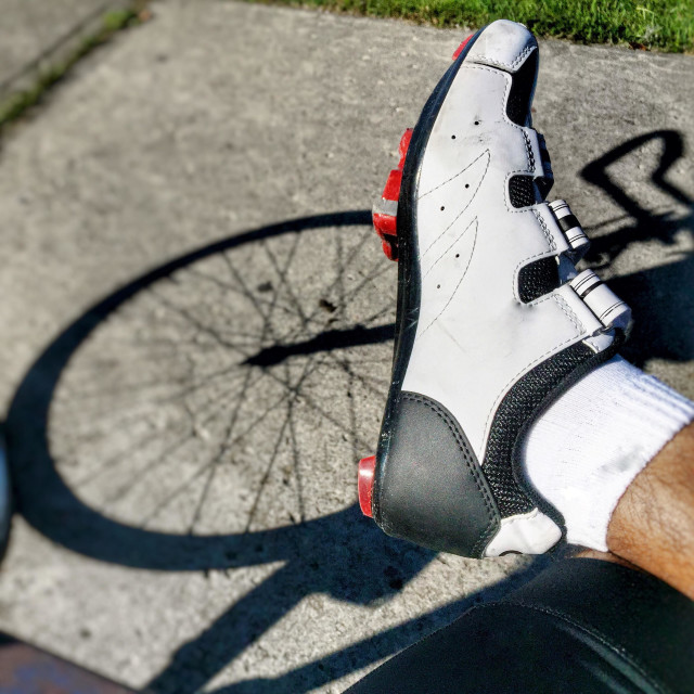 """""""Cycling shoes"""" stock image"""
