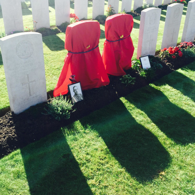 """""""Rededication ceremony for two unknown soldiers from World War One in Ypres Belgium"""" stock image"""