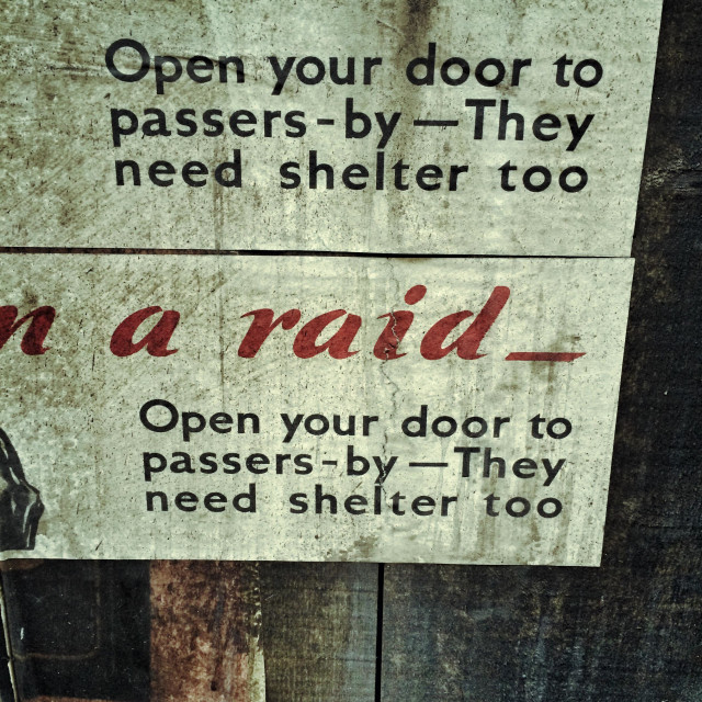 """""""Detail from a Second World War poster."""" stock image"""
