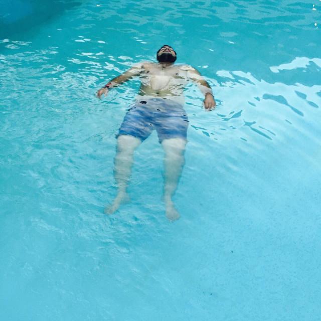 """Pool,swimmingpool,relaxation,floating water"" stock image"