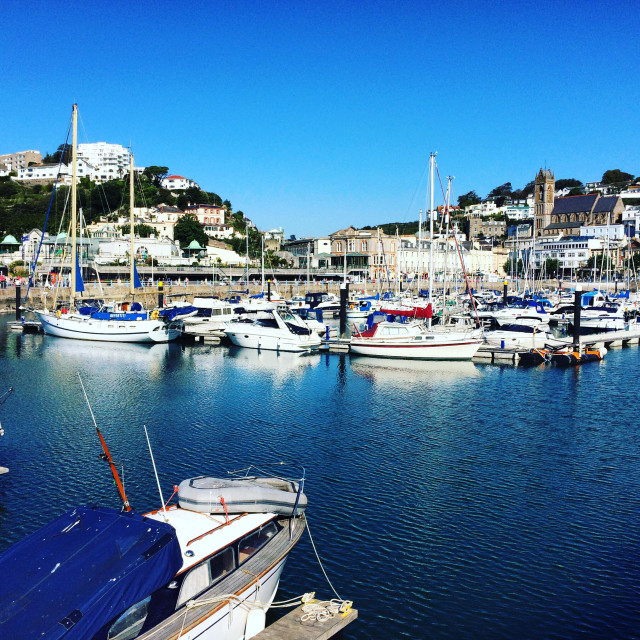 """Torquay Harbour in South Devon, UK."" stock image"