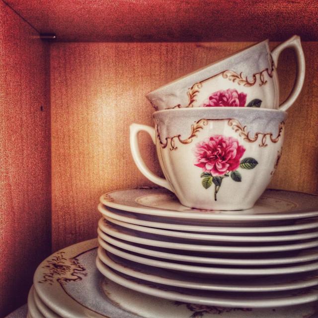 """Crockery cupboard"" stock image"
