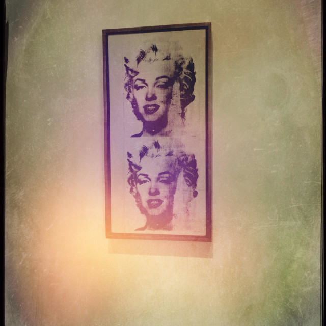 """Andy Warhol's Marilyn Monroe in frame"" stock image"